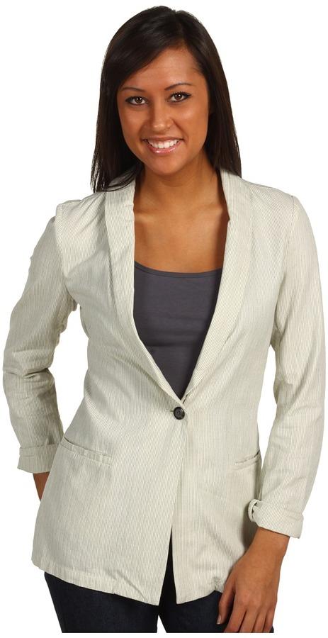 Quiksilver - Sand Stripe Blazer (Sand Stripe) - Apparel