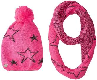 Betsey Johnson Star Struck Two-Piece Set Infinity Beanie Beanies