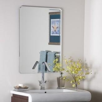Décor Wonderland Decor Wonderland Samson Large Frameless Mirror 23.5 inx31.5 in