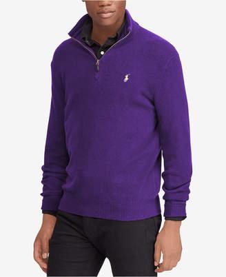Polo Ralph Lauren Men's Cashmere Blend Half-Zip Sweater