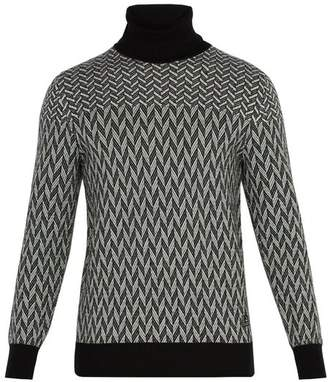Givenchy Graphic Cotton Sweater - Mens - Black White