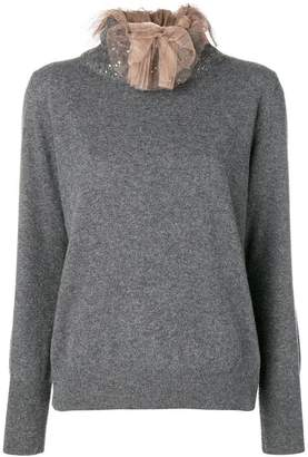 Fabiana Filippi tulle neck jumper