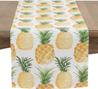 Saro Pineapple Print Table Runner