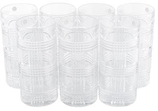 Ralph Lauren 7-Piece Glen Plaid Highball Glasses