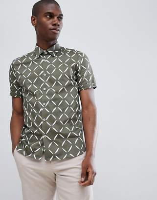 Ted Baker Short Sleeve Shirt in Diamond Print