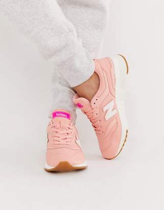New Balance 997 pink trainers