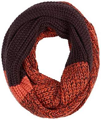 Knitted Winter Infinity Scarf Woman Acrylic Purple Patchwork Tube Scarf