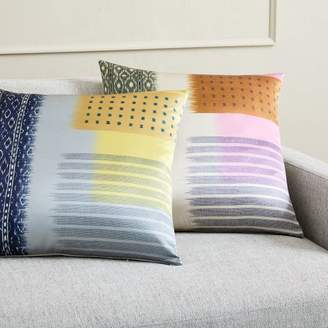 west elm Blocked Ikat Silk Pillow Covers