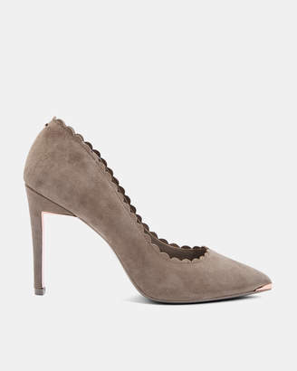 Ted Baker SLOANA Scallop detail suede courts