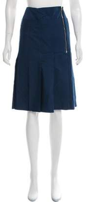 Calvin Klein Collection Knee-Length Pleated Skirt w/ Tags Navy Knee-Length Pleated Skirt w/ Tags