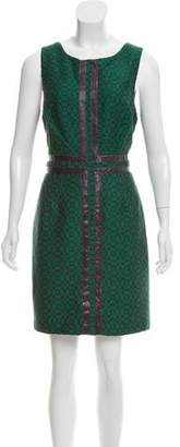 Tracy Reese Sleeveless Sneak Skin-Accented Dress