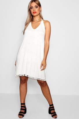 boohoo Plus Pom Pom Cami Dress
