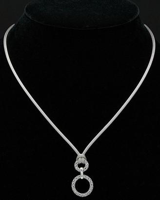 Italian Silver Mesh Circle Necklace