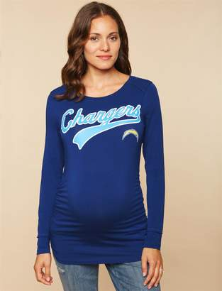 Motherhood Maternity Los Angeles Chargers NFL Long Sleeve Maternity Tee 1f0bd4d13