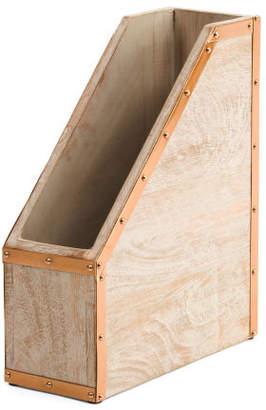 Wood & Metal Rivet Desktop File Holder