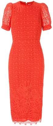 Rebecca Vallance Mae lace short-sleeved dress