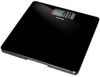 Salter SPRINGFIELD Black Glass LCD Bath Scale