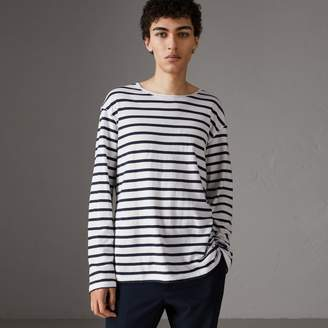 Burberry Breton Stripe Cotton Jersey Top