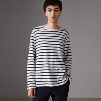 Burberry Breton Stripe Cotton Jersey Top