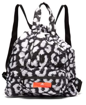 e2a2fd214b6a adidas by Stella McCartney Leopard Print Bungee Top Gym Sack - Womens -  Black Multi
