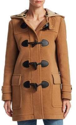 Burberry Mersey Wool Toggle Coat