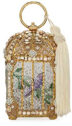 Judith Leiber Couture Gilded Bird Cage Framed Clutch Bag, Gold