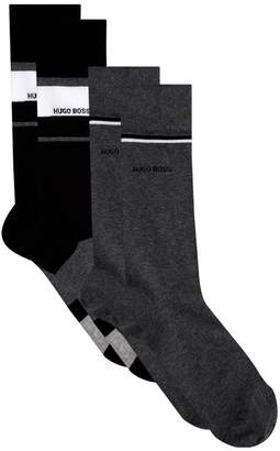 HUGO BOSS Logo Socks (Pack of 2)