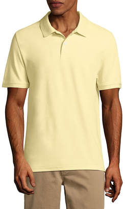 ST. JOHN'S BAY Easy Care Short Sleeve Pique Polo Shirt Slim