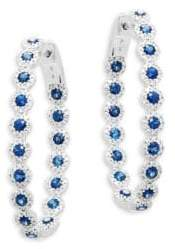 Bridal Diamond & 14K White Gold Ear Crawler Earrings