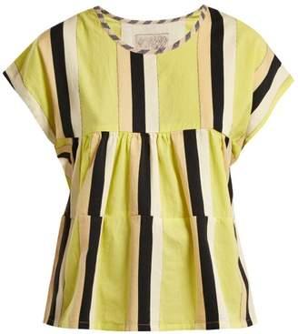 Ace&Jig Marfa Striped Cotton Top - Womens - Yellow Multi
