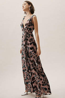 Anthropologie Sancia Velvet Burnout Wrap Wedding Guest Dress