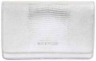 Lizard Embossed Metalllic Leather Bag $1,240 thestylecure.com