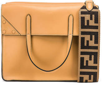 Fendi Regular Flip Crossbody Bag in Dark Honey | FWRD