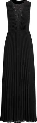 Ralph Lauren Pleated Chiffon Gown