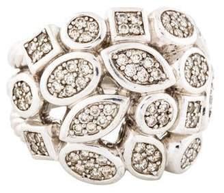 David Yurman Diamond Confetti Four-Row Ring