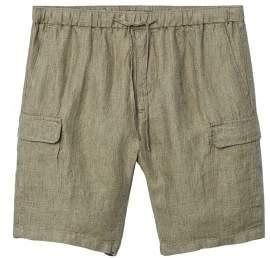 Mango man MANGO MAN Cargo pockets linen bermuda shorts