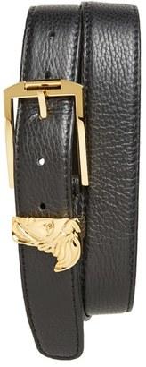 Men's Versace Collection Medusa Leather Belt $250 thestylecure.com