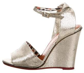 Charlotte Olympia Mischevious Metallic Sandals