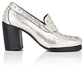Re/Done + Weejuns Women's Winsome Stamped-Leather Pumps - Silver