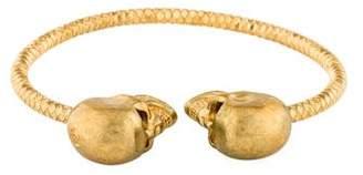 Alexander McQueen Crystal Twin Skull Cuff