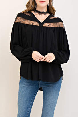 Entro Solid Long-Sleeve Top