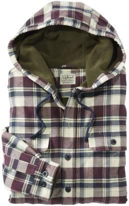 L.L. Bean L.L.Bean Hooded Fleece-Lined Flannel Shirt