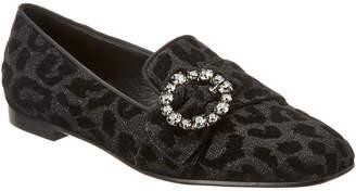 Dolce & Gabbana Velvet & Leather Flat