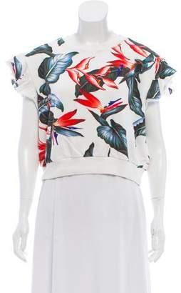 Philosophy di Lorenzo Serafini Floral Cropped Sweatshirt