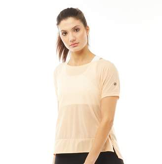 Asics Womens Running Crop Top Apricot Ice