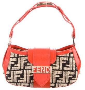 Fendi Zucca Woven Shoulder Bag