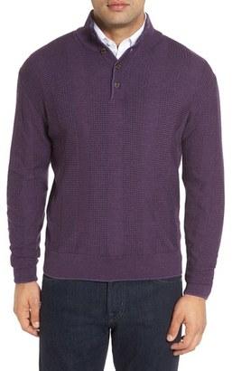 Men's Robert Talbott 'Legacy Collection' Mock Neck Wool Sweater $298 thestylecure.com