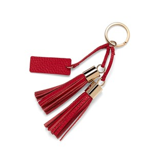 Cuyana Leather Tassel Keychain