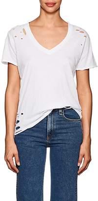 NSF Women's Cielo Distressed Cotton T-Shirt