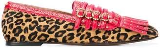 L'Autre Chose leopard print loafers